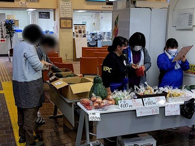 新鮮野菜とドライフルーツ販売の販売会を実施しました01