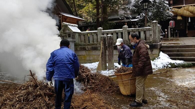 【活動報告】大宮熱田神社境内清掃のお手伝い