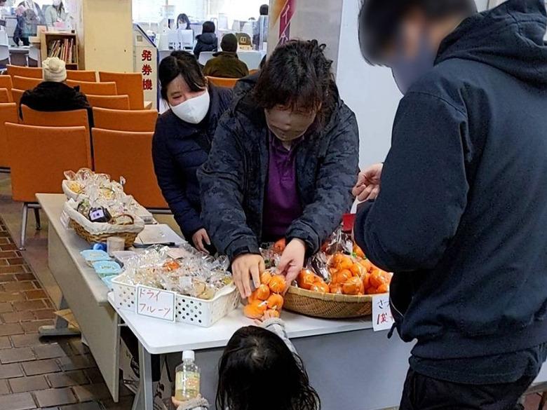 【活動報告】ドライフルーツと新鮮野菜と新米を販売しました。